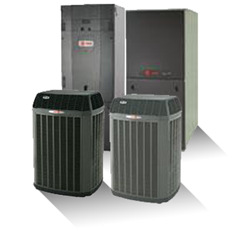 Air Handler, Gas Furnace and Air Conditioner